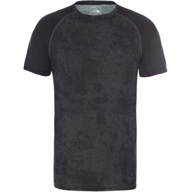 The North Face Ambition T-shirt Heren, asphalt grey grunde print/tnf black